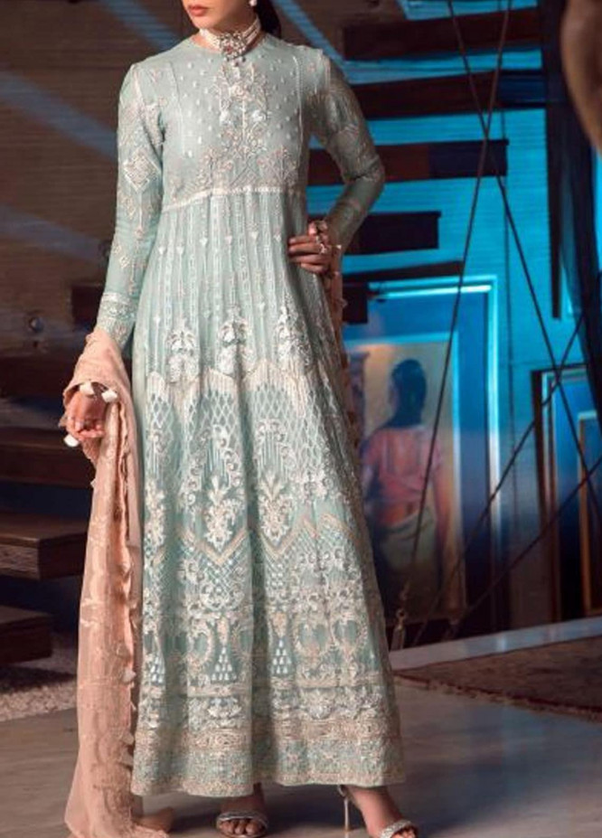 Ghazal by AIK Atelier Embroidered Chiffon Unstitched 3 Piece Suit AK20G LOOK-04 - Luxury Collection