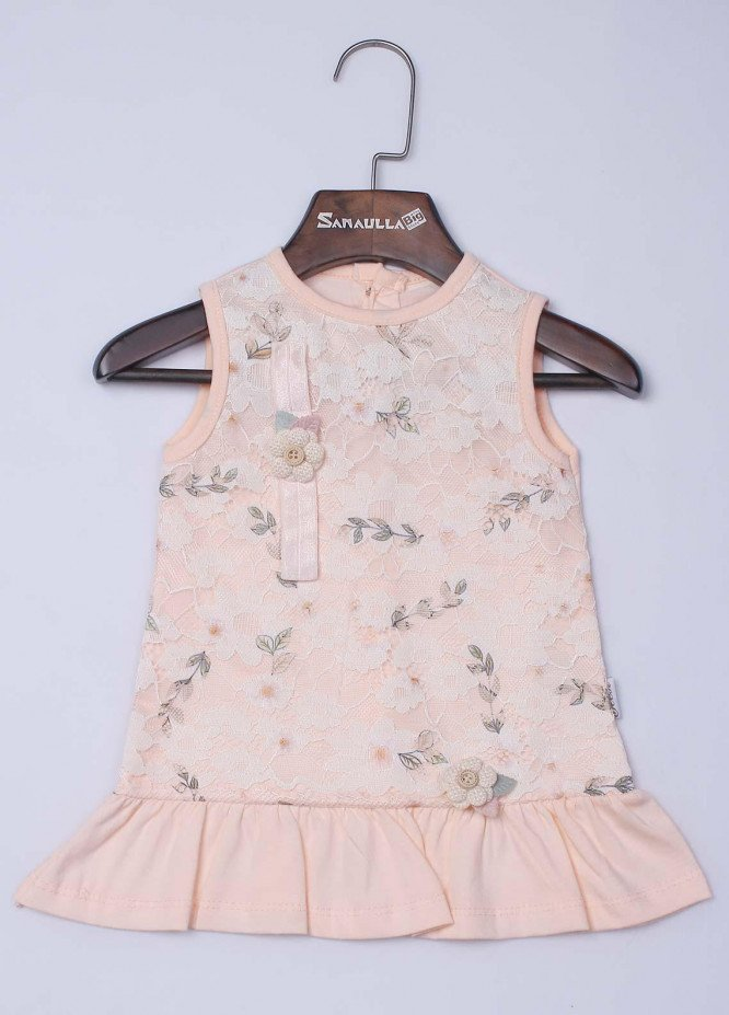 Sanaulla Exclusive Range Cotton Casual Frocks for Girls -  142 Pink
