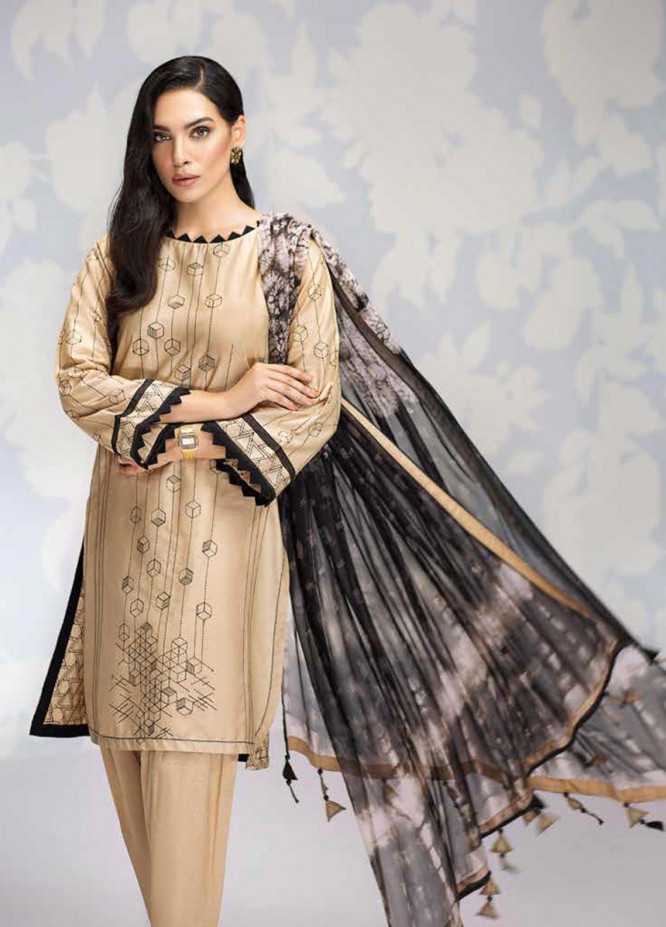 Gul Ahmed Embroidered Cambric Unstitched 3 Piece Suit GA19CF BM-145 - Mid Summer Collection