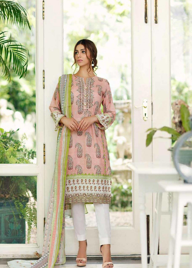 Gul Ahmed Embroidered Cambric Unstitched 3 Piece Suit GA19CF CBE-85 - Mid Summer Collection