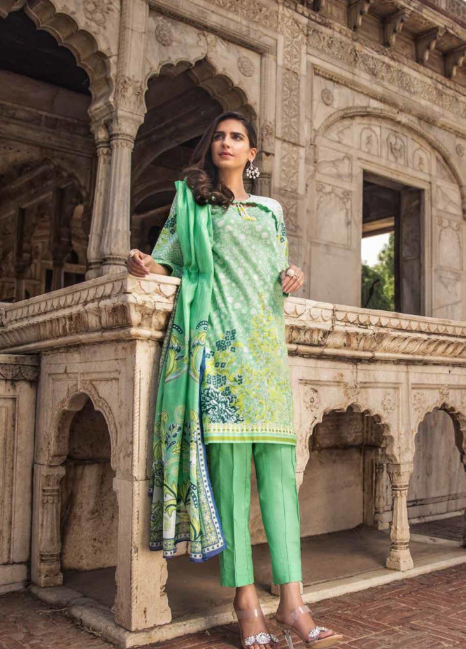 Gul Ahmed Printed Cambric Unstitched 3 Piece Suit GA19CF CBN-100 A - Mid Summer Collection