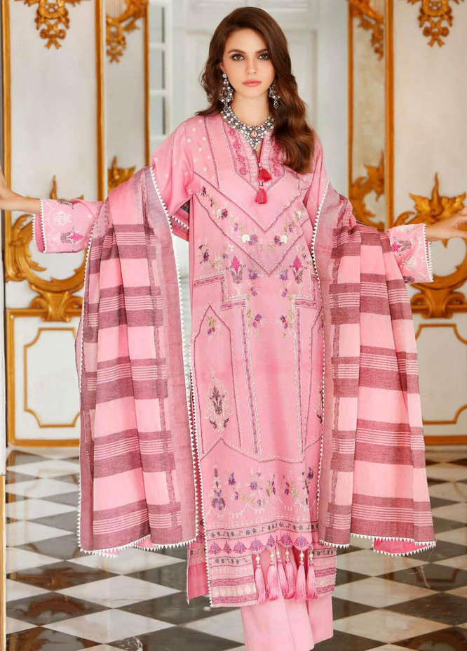 Gul Ahmed Embroidered Dobby Unstitched 3 Piece Suit GA20FP 264 - Festive Collection