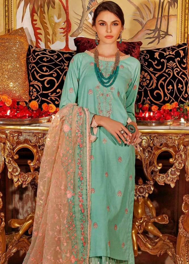 Gul Ahmed Embroidered Dobby Unstitched 3 Piece Suit GA20FP 291 - Festive Collection