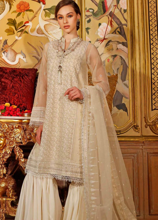 Gul Ahmed Embroidered Organza Unstitched 3 Piece Suit GA20FP 293 - Festive Collection