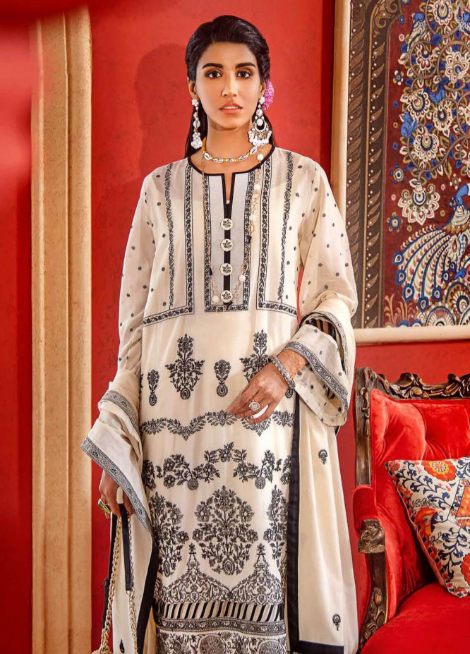 Gul Ahmed Embroidered Lawn Unstitched 3 Piece Suit GA20FP 313 - Festive Collection