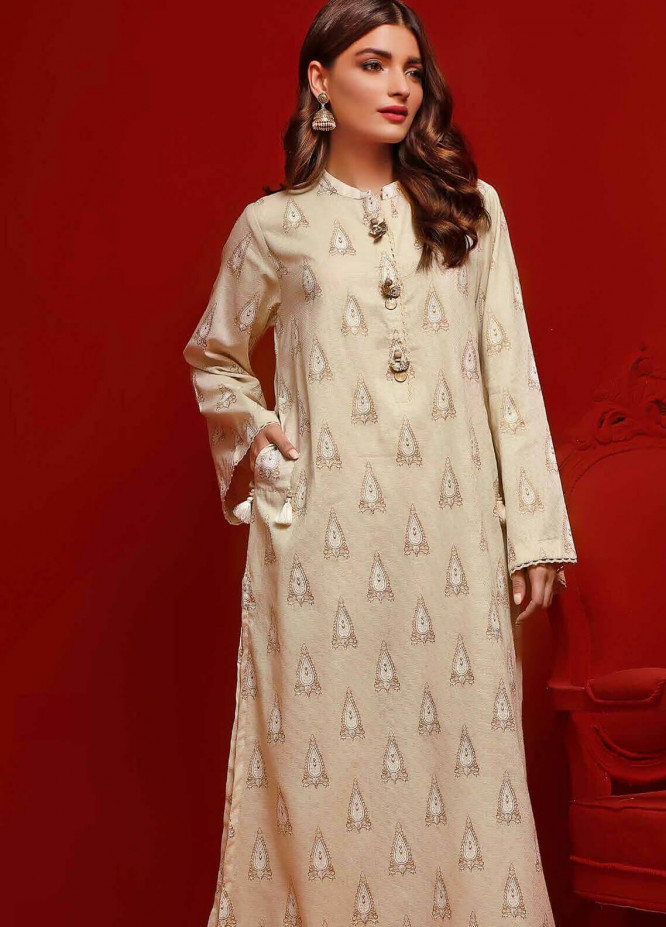 Gul Ahmed Printed Dobby Unstitched Kurties GA20FP 370 - Festive Collection