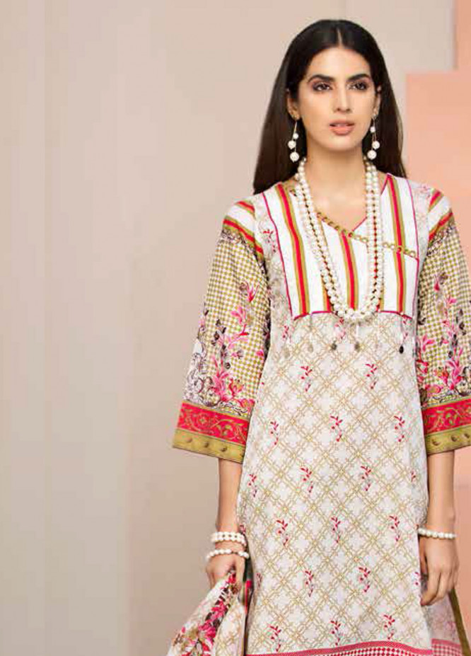 Gul Ahmed Printed Lawn Unstitched 3 Piece Suit GAM19L CL-498 B - Spring / Summer Collection