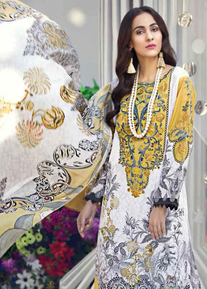 Gul Ahmed Embroidered Lawn Unstitched 3 Piece Suit GAM19-L2 SSM-23 - Mid Summer Collection