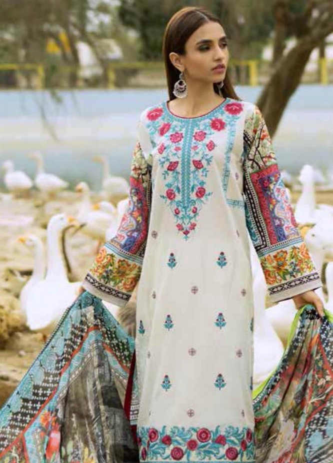 Gul Ahmed Embroidered Lawn Unstitched 3 Piece Suit GAM19-L2 SSM-25 - Mid Summer Collection