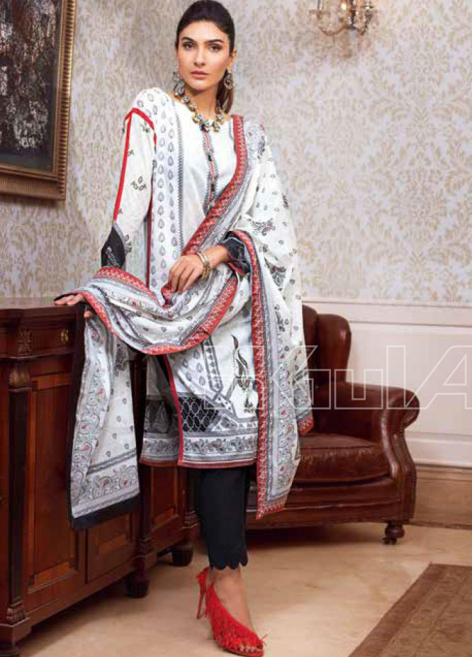 Gul Ahmed Printed Lawn Unstitched 3 Piece Suit GA20SBL B 71 - Summer Collection