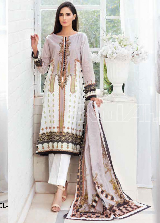 Gul Ahmed Printed Lawn Unstitched 3 Piece Suit GA20SBL CL 820 - Summer Collection