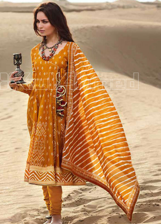 Gul Ahmed Printed Lawn Unstitched 3 Piece Suit GA20SBL CL 857 - Summer Collection