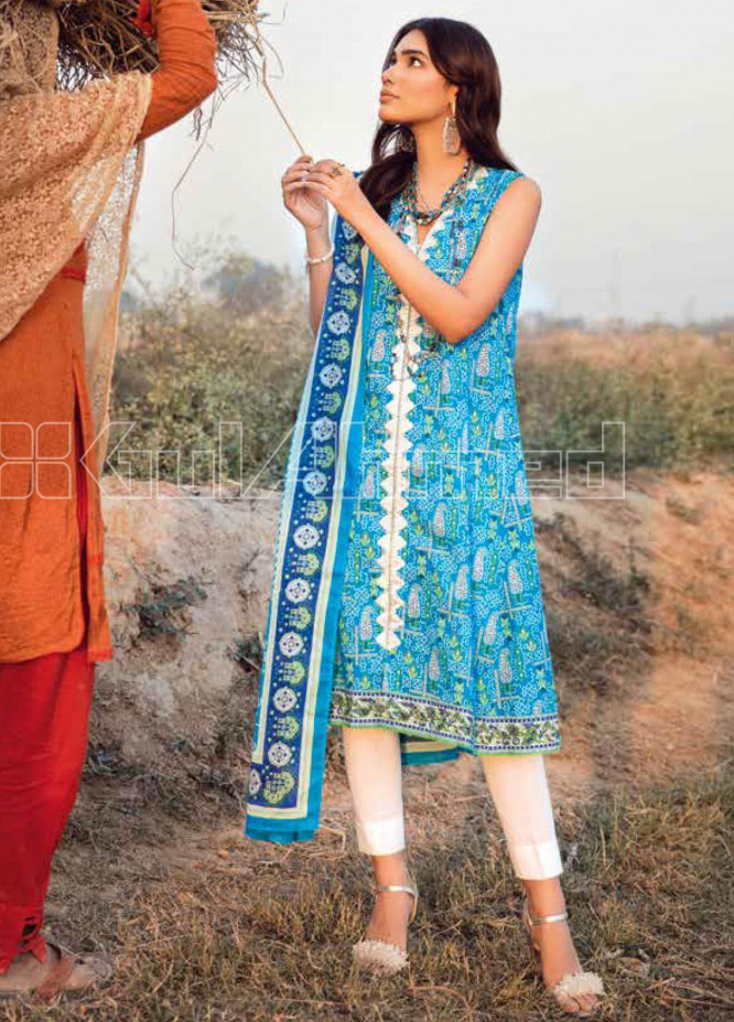Gul Ahmed Embroidered Lawn Unstitched 2 Piece Suit GA20SBL TL 247B - Summer Collection