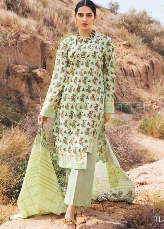 Gul Ahmed Embroidered Lawn Unstitched 2 Piece Suit GA20SBL TL 252B - Summer Collection