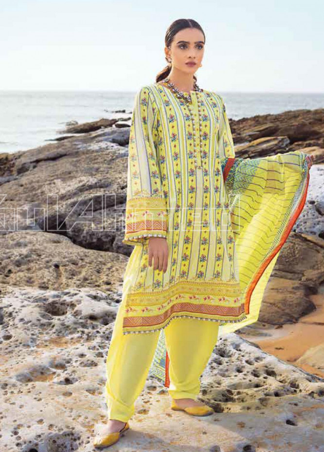 Gul Ahmed Embroidered Lawn Unstitched 2 Piece Suit GA20SBL TL 259B - Summer Collection