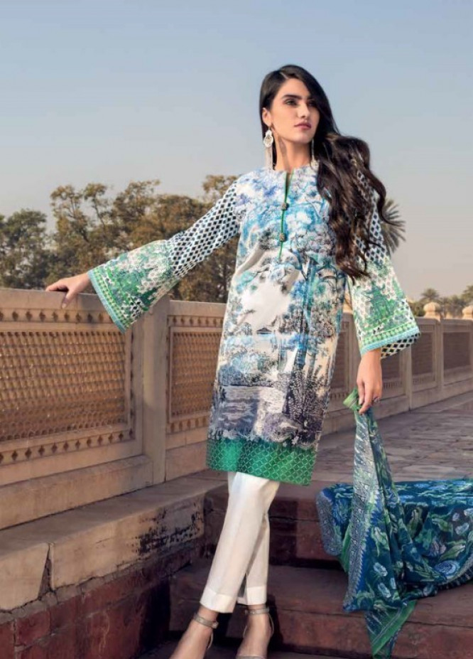 46bf17bb96 Gul Ahmed Embroidered Jacquard Unstitched 3 Piece Suit GAP19L BM-73 - Spring  / Summer