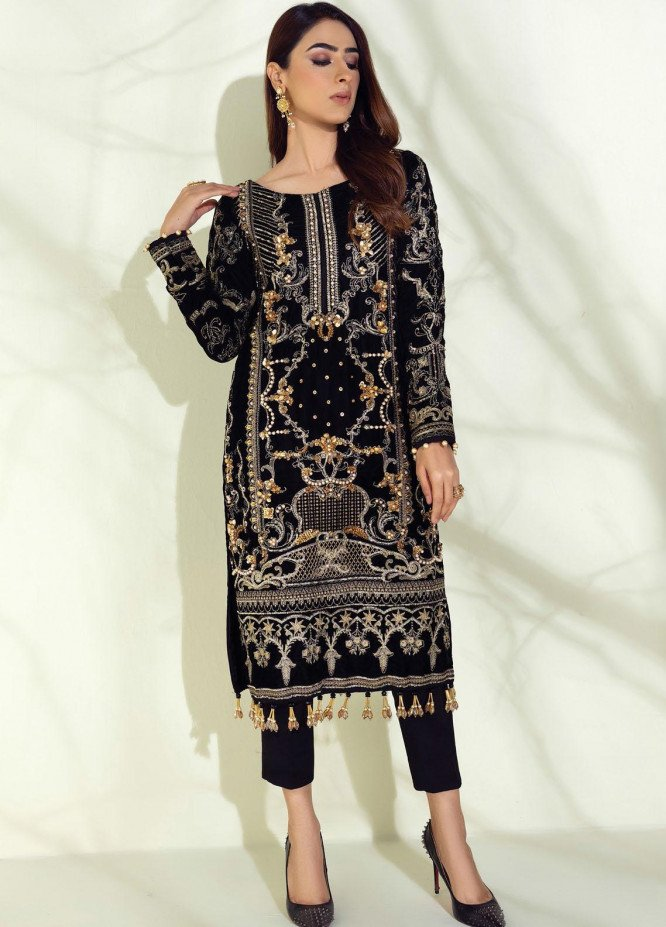 Sahiba by Gulaal Embroidered Velvet Unstitched 2 Piece Suit GL20V 01 Perles - Wedding Collection