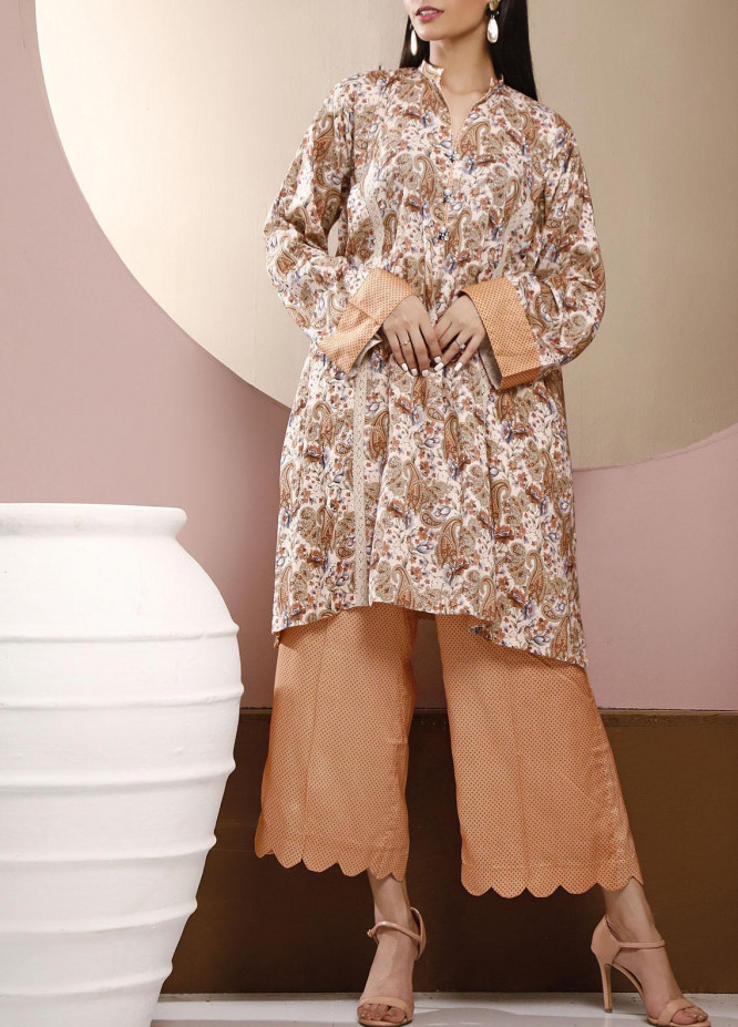 Heena by Ittehad Textiles Printed Linen Unstitched 2 Piece Suit ITD20HL 1910-B - Summer Collection