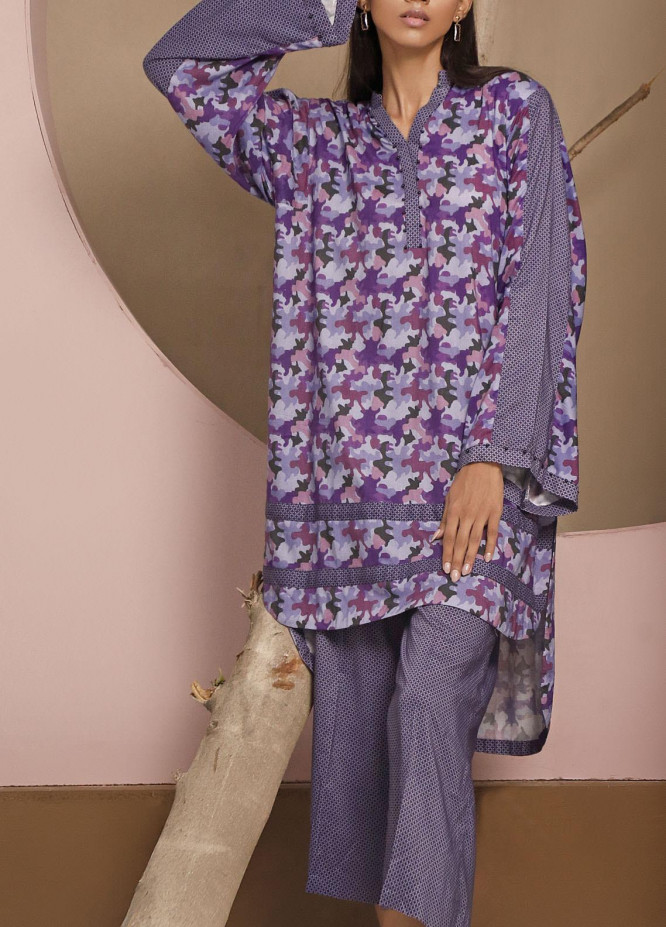 Heena by Ittehad Textiles Printed Linen Unstitched 2 Piece Suit ITD20HL 1917-B - Summer Collection