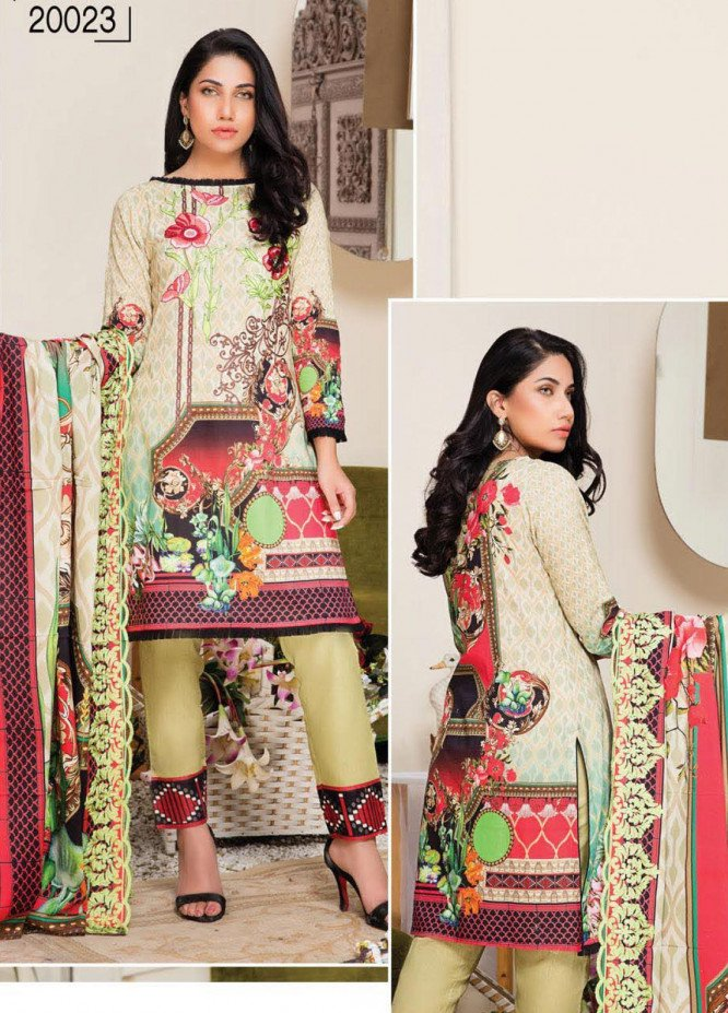 Master Fabrics Embroidered Lawn Unstitched 3 Piece Suit MF20HL 23 - Summer Collection