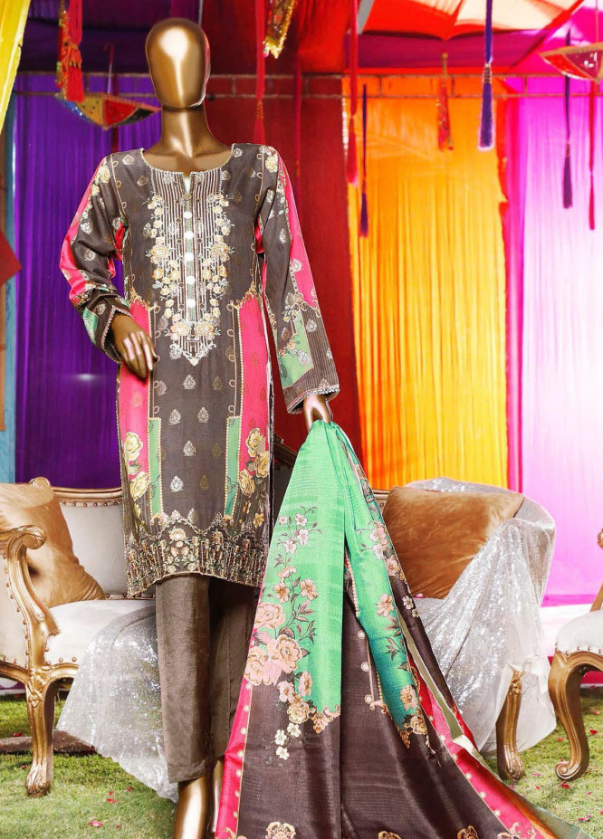 Turkish Jacquard by HZ Embroidered Viscose Unstitched 3 Piece Suit HZ20TV D-02-B - Festive Collection
