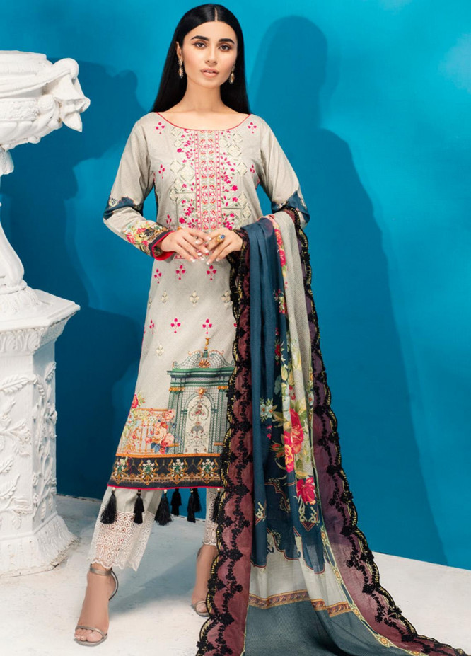 Iman by Regalia Textiles Embroidered Lawn Unstitched 3 Piece Suit RG20-IE2 2B - Summer Collection