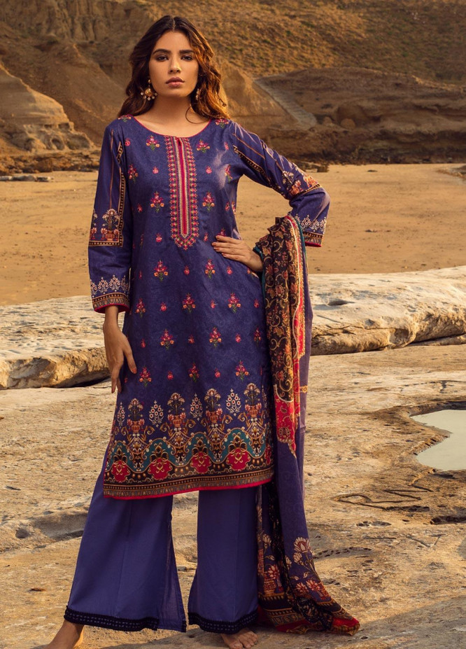 Regalia Textiles Embroidered Lawn Unstitched 3 Piece Suit RG20IE 5-A - Summer Collection