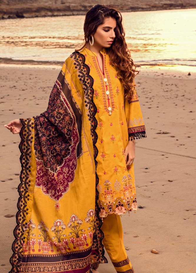 Regalia Textiles Embroidered Lawn Unstitched 3 Piece Suit RG20IE 5-B - Summer Collection