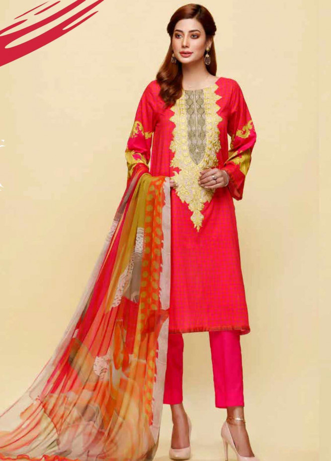 Infinity by Riaz Arts Embroidered Lawn Unstitched 3 Piece Suit IRA20L 14 B - Summer Collection