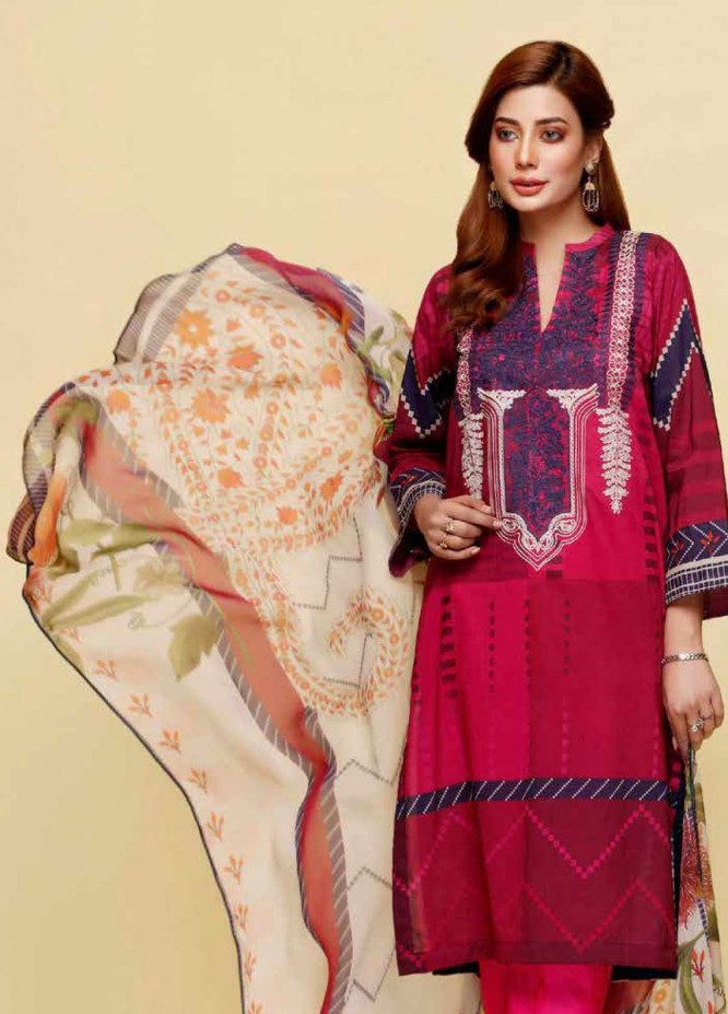 Infinity by Riaz Arts Embroidered Lawn Unstitched 3 Piece Suit IRA20L 16 A - Summer Collection