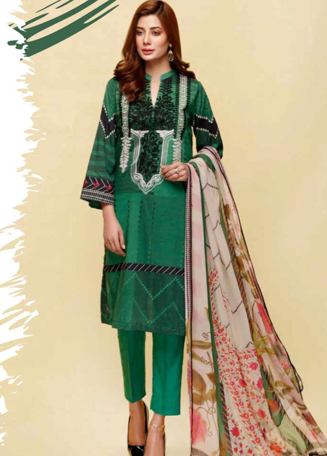 Infinity by Riaz Arts Embroidered Lawn Unstitched 3 Piece Suit IRA20L 16 C - Summer Collection