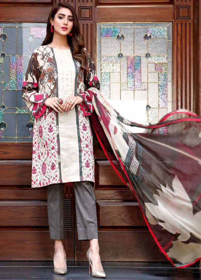 Infinity by Riaz Arts Embroidered Lawn Unstitched 3 Piece Suit IRA20-L5 22A - Summer Collection