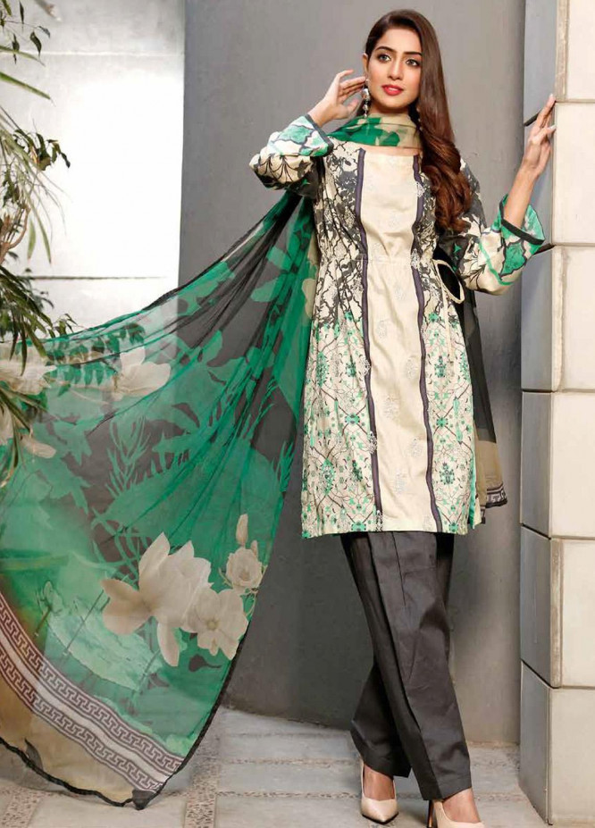 Infinity by Riaz Arts Embroidered Lawn Unstitched 3 Piece Suit IRA20-L5 22B - Summer Collection