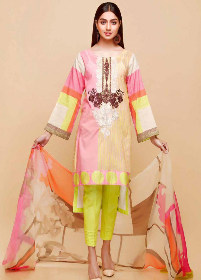 Infinity by Riaz Arts Embroidered Lawn Unstitched 3 Piece Suit IRA20-L5 23B - Summer Collection