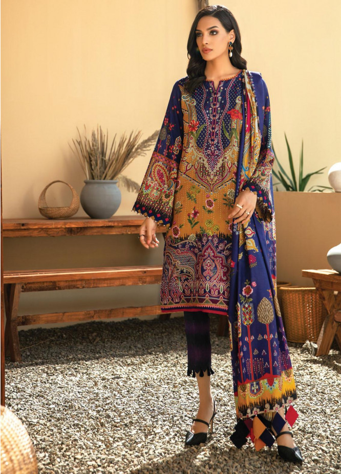 IRIS VIRSA by Jazmin Embroidered Linen Unstitched 3 Piece Suit JZ20IV 04 Aashna - Winter Collection