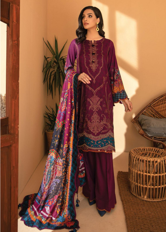 IRIS VIRSA by Jazmin Embroidered Linen Unstitched 3 Piece Suit JZ20IV 06 Banugul - Winter Collection