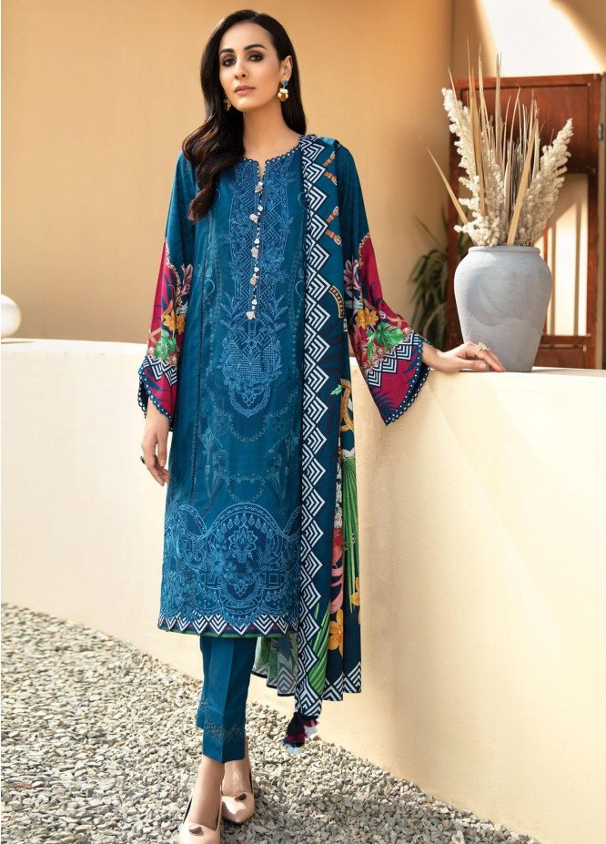 IRIS VIRSA by Jazmin Embroidered Linen Unstitched 3 Piece Suit JZ20IV 08 Falak - Winter Collection