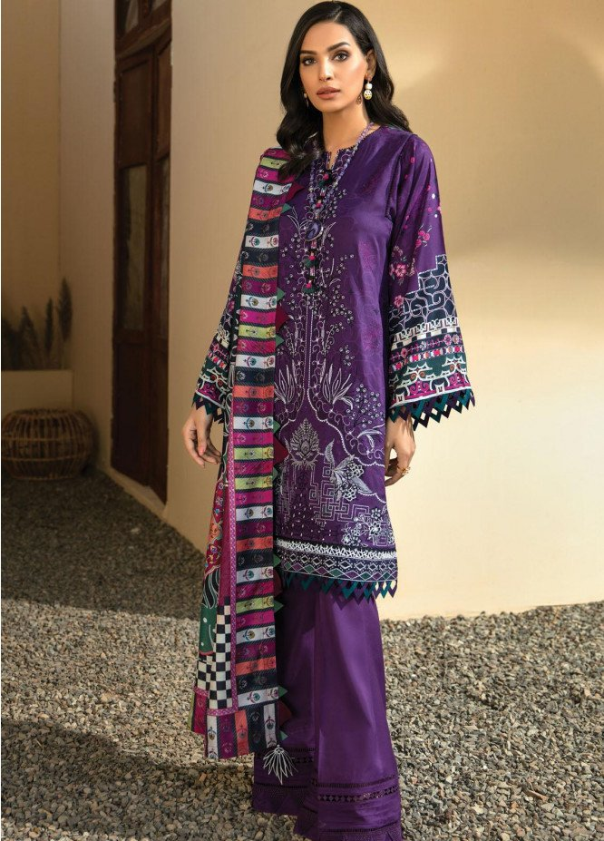IRIS VIRSA by Jazmin Embroidered Linen Unstitched 3 Piece Suit JZ20IV 12 Aqeeq - Winter Collection