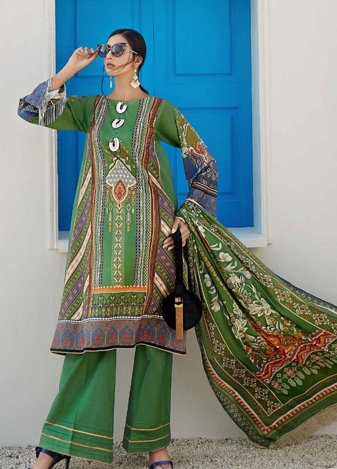 Ittehad Textiles Sarang Printed Lawn Unstitched 3 Piece Suit ITD20SR AZALEA - Spring / Summer Collection
