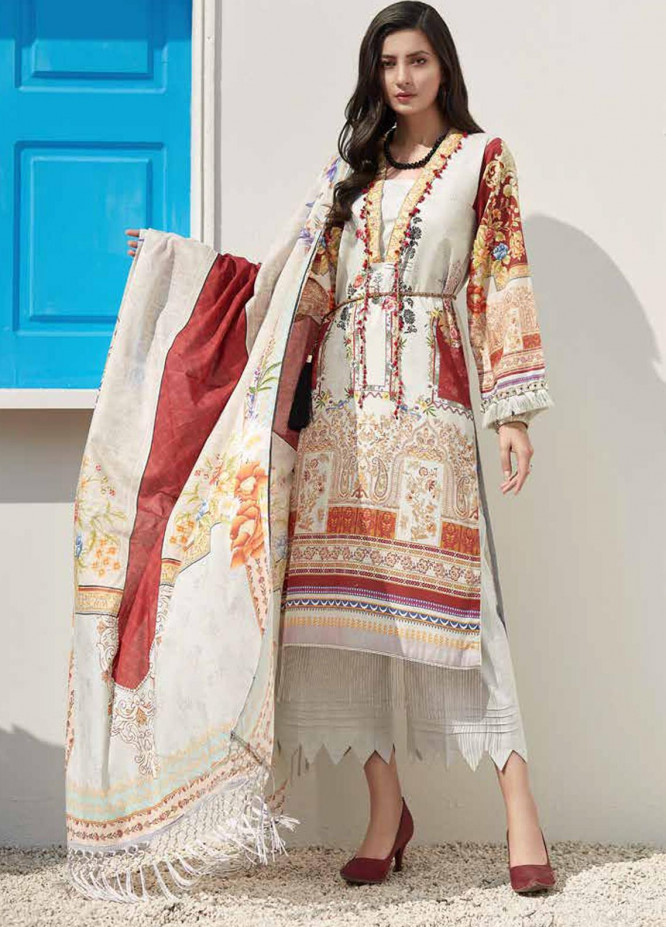 Ittehad Textiles Sarang Printed Lawn Unstitched 3 Piece Suit ITD20SR BUTTERCUP - Spring / Summer Collection