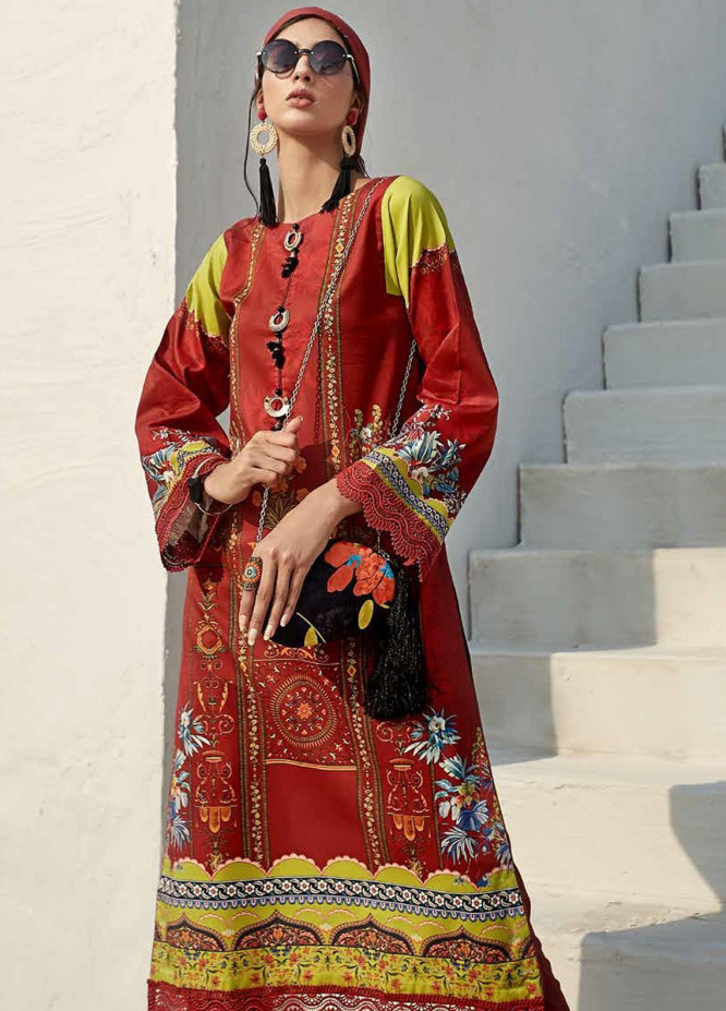 Ittehad Textiles Sarang Printed Lawn Unstitched 3 Piece Suit ITD20SR CORNFLOWER - Spring / Summer Collection