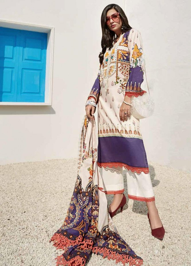 Ittehad Textiles Sarang Printed Lawn Unstitched 3 Piece Suit ITD20SR FREESIA - Spring / Summer Collection