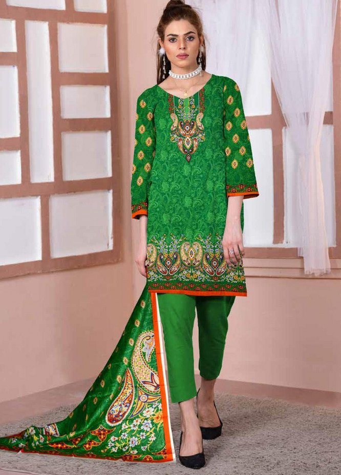 Ittehad Textiles Printed Lawn Unstitched 3 Piece Suit ITD20CL 70B - Summer Collection