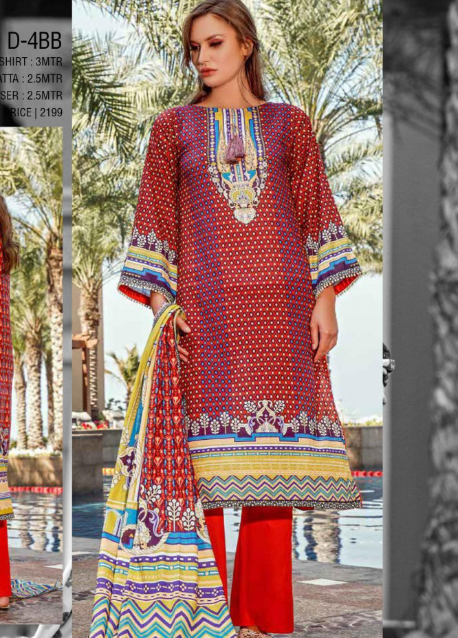 Ittehad Textiles Printed Lawn Unstitched 3 Piece Suit ITD20CS 43B - Summer Collection