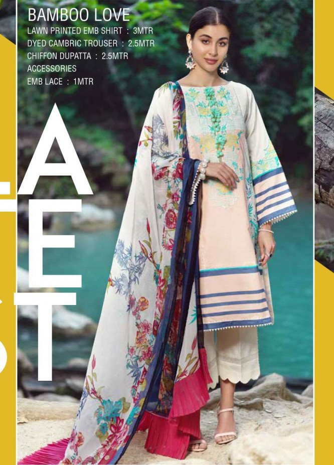 Ittehad Textiles Embroidered Lawn Unstitched 3 Piece Suit ITE20SL BAMBOO LOVE - Summer Collection