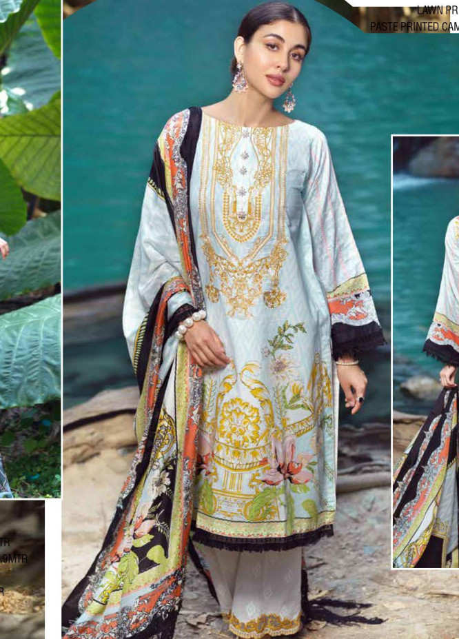 Ittehad Textiles Embroidered Lawn Unstitched 3 Piece Suit ITE20SL IKKAT DESIRE - Summer Collection