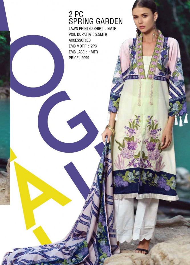 Ittehad Textiles Embroidered Lawn Unstitched 2 Piece Suit ITE20SL SPRING GARDEN - Summer Collection