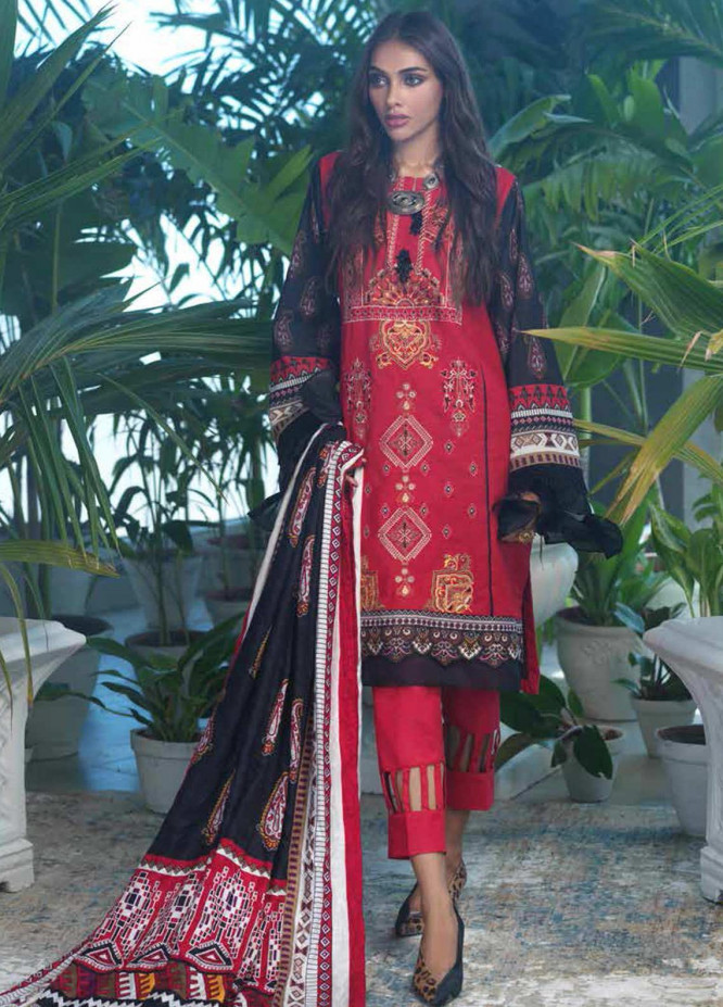 Ittehad Textiles Embroidered Cotton Unstitched 3 Piece Suit ITD20FW 19 ECLAT - Winter Collection