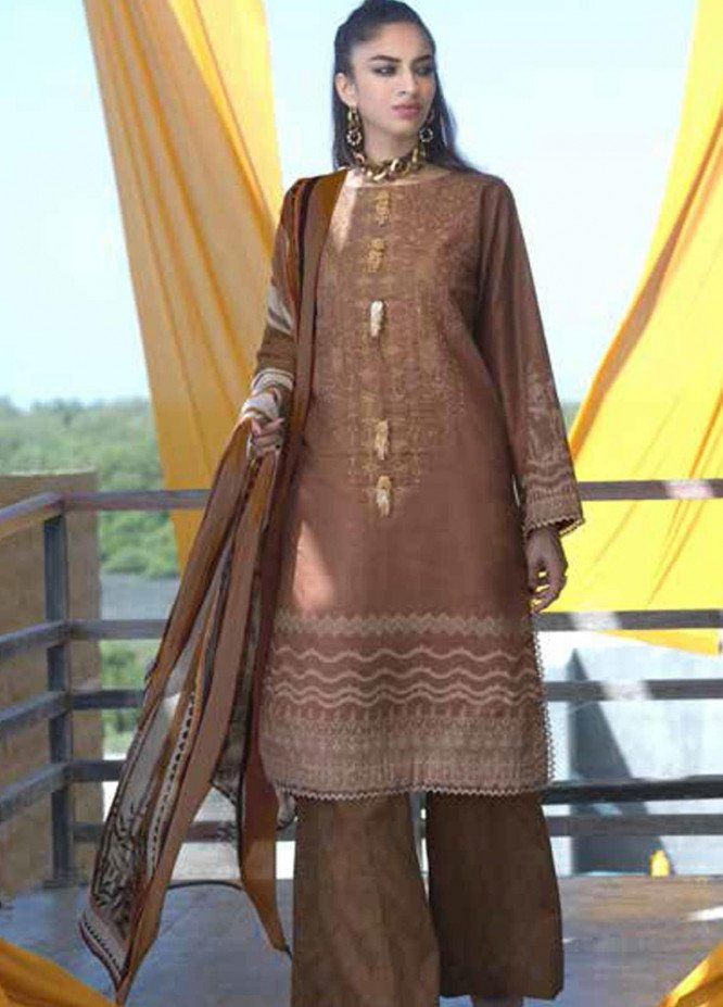 Ittehad Textiles Embroidered Khaddar Unstitched 3 Piece Suit ITD20FW 26 TUSCAN SET - Winter Collection