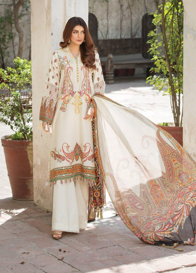Ittehad Textiles Embroidered Lawn Unstitched 3 Piece Suit ITD20F 01 Nuria - Spring / Summer Collection